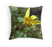 Adder's Tongue (or Yellow Trout Lily) Throw Pillow