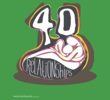 T-Shirt 40/85 (Relationships) by Simon Maggs by WEAR IT WITH PRIDE (ACON)