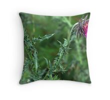 "The Common but Beautiful ""Musk Thistle""  Throw Pillow"