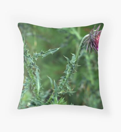 """The Common but Beautiful """"Musk Thistle""""  Throw Pillow"""