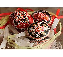Three Czech Easter Eggs Photographic Print