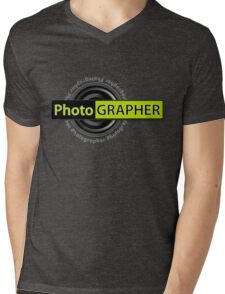 PhotoGRAPHER Long Sleeve Mens V-Neck T-Shirt