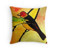 Affinity (Western Tanagers) Throw Pillow