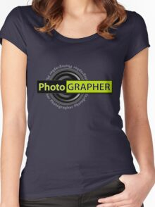 PhotoGRAPHER Hoodie Women's Fitted Scoop T-Shirt