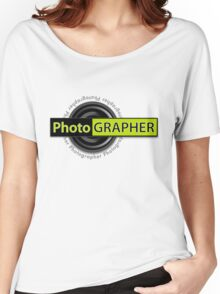 PhotoGRAPHER Girly Fitted Short Sleeve Women's Relaxed Fit T-Shirt