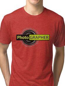 PhotoGRAPHER Girly Fitted Short Sleeve Tri-blend T-Shirt