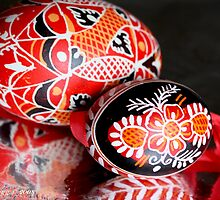 Two Czech Easter Eggs by pogomcl