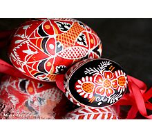 Two Czech Easter Eggs Photographic Print