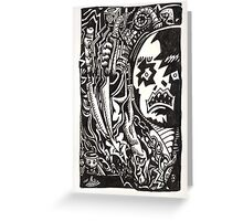 Wickedest Man (unpremeditated drawing of Aleister Crowley) Greeting Card