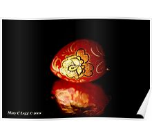 Red lacquered Easter Egg Poster