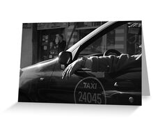 Buenos Aires Taxi Greeting Card