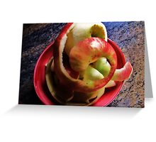 Spiral Apple Greeting Card