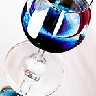 Blue Wine by Sandra Wicklund