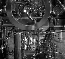 Detail of an antique fire engine by Robert Michalski