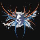 Skull Design on Short Sleeve T-Shirt by Jim Felder