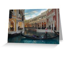 Gondolier at Grand Canal Shops ~ Venetian Greeting Card