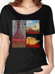 London - Poppies at The Tower of London Women's Relaxed Fit T-Shirt