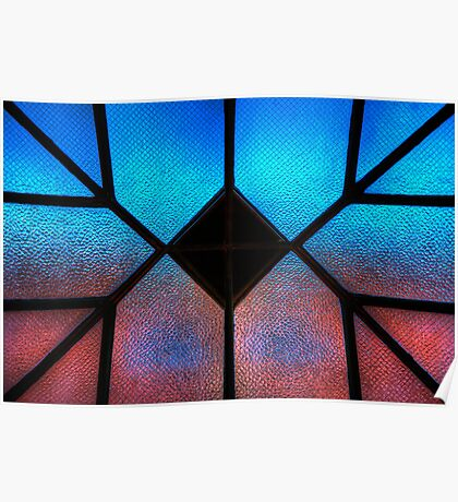 Sky Wall Stained Glass Poster