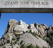 Framed Mount Rushmore Memorial by Teresa Zieba