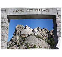 Framed Mount Rushmore Memorial Poster