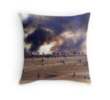 Lowry Brush Fire, Colorado Throw Pillow