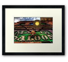 Matts Saloon Framed Print