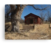 Abandoned one room school house Canvas Print