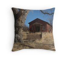 Abandoned one room school house Throw Pillow