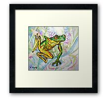 Joy - Frog 1 Framed Print
