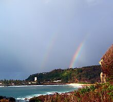 Waimea Bay Rainbow by Lesley Ortiz