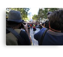 S.L.A.M. (Save Live Australian Music) Protest Rally III. Canvas Print