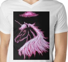 Unicorn Pink Dreams  Mens V-Neck T-Shirt