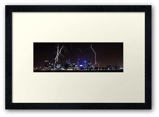 Perth Lightning by Paul Pichugin
