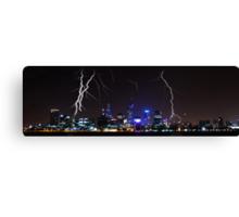 Perth Lightning Canvas Print