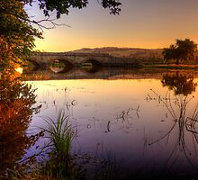 Sunset on Macquarie River in hdr by Elana Bailey