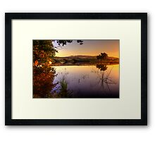 Sunset on Macquarie River in hdr Framed Print
