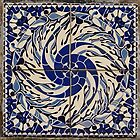 blue and white quadrants, tile design by BronReid