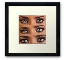 Three looks Framed Print