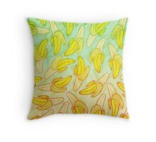 BANANA - RAINBOW by Kohii Love & Toso Journ Throw Pillow