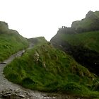 Tintagel, clinging to the cliff face by BronReid