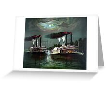 Race Of The Steamers Robert E. Lee and Natchez Greeting Card