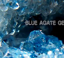 Crystal Iceland -Blue Agate Inside the Geode by mandyemblow