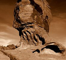 Mother nature's sculpture - sepia by Gili Orr