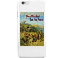 Men Wanted For The Army iPhone Case/Skin