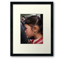 Shan girl in profile Framed Print