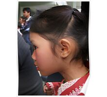 Shan girl in profile Poster