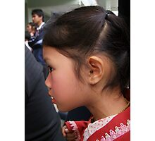 Shan girl in profile Photographic Print
