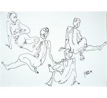 4 sketches of the same pose Photographic Print