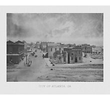 City Of Atlanta -- 1863 Photographic Print
