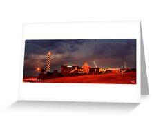 Lightning Over Lighthouse Resort Greeting Card
